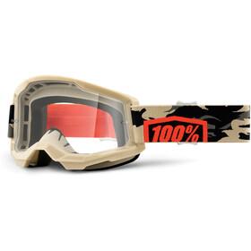100% Strata Anti-Fog Goggles Gen2 kombat/clear
